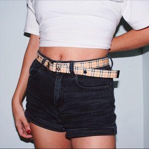 Vintage Plaid Belt